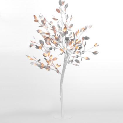 Copac Înzăpezit cu Frunze Argintii (96 LED)