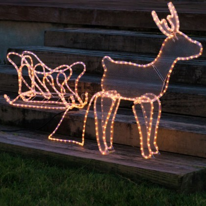 Ren de Crăciun cu Sanie (504 LED)