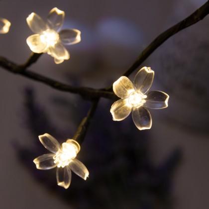 Pom Decorativ cu Flori (48 LED-uri)