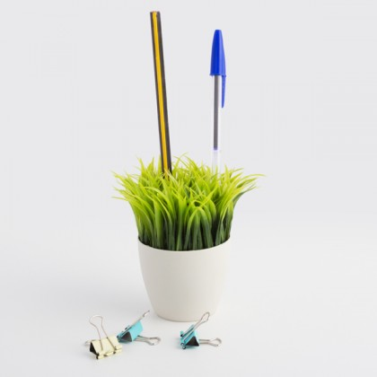 Suport de Creioane Ghiveci cu Iarbă