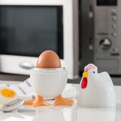 Recipient pentru Fiert Ouă la Microunde Găină