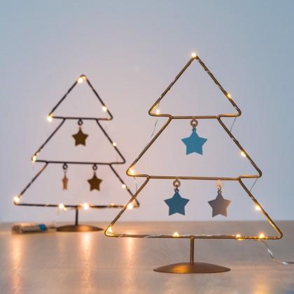 Pom de Crăciun cu Stele (10 LED-uri)