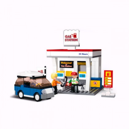 Joc de Construcție Benzinărie (167 piese)