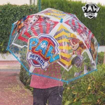 Umbrelă Albastră cu Cupolă Transparentă Patrula Canină