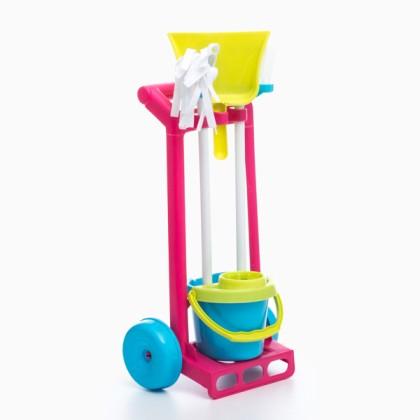 Cărucior de Curăţenie de Jucărie (5 piese)