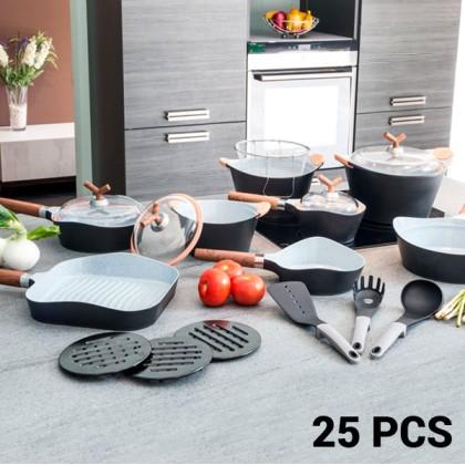 Tigăi şi Set de Bucătărie Black Premium 10143502 (25 piese)