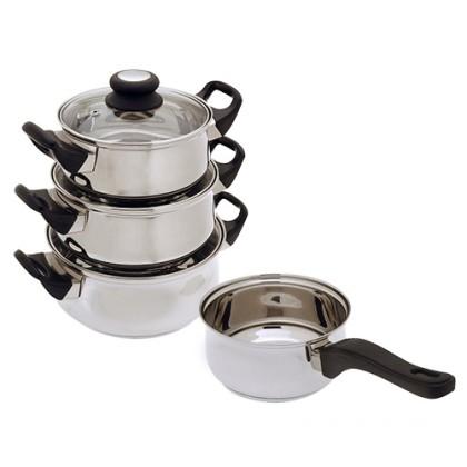 Vase de Bucătărie din Oţel Inoxidabil (7 bucăţi)