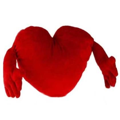 Inimă Roșie cu Brațe (30cm)