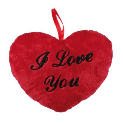 Pernă inimă roșie I love You  26cm