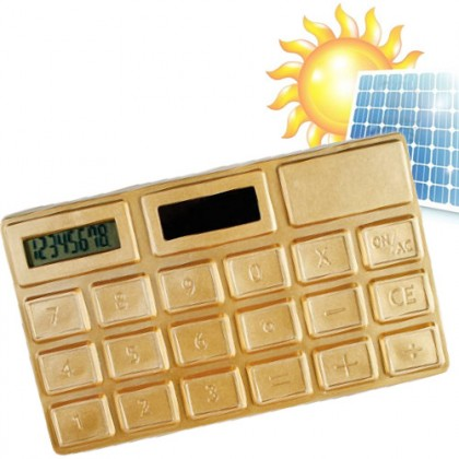 Calculator solar auriu