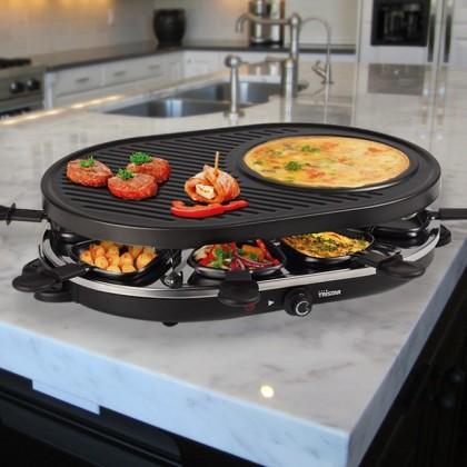 Grill-Racletă cu Aparat pentru Crepe Tristar RA2996