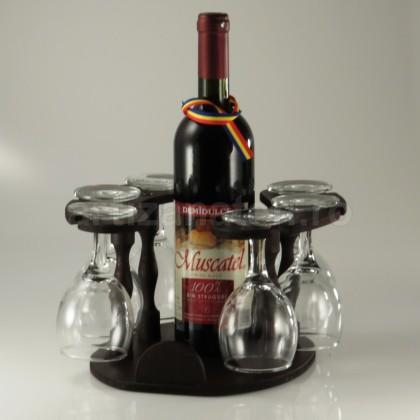 Minibar Cu Sticla Cu Vin  Si 6 Pahare De Vin-102233