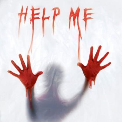 Perdea pentru duş Help Me