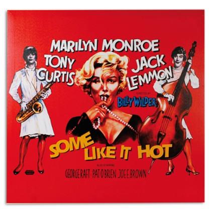 Poster Pânză In Marilyn Monroe în Unora le Place Jazzul 60 x 60
