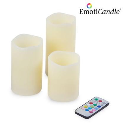 Lumânări LED EmotiCandle (pachet de 3)