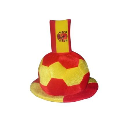 Pălărie Minge de Fotbal cu Steagul Spaniei în Relief