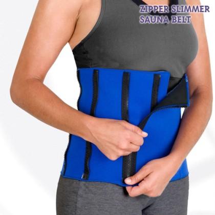 Burtieră pentru Sport Zipper Slimmer Sauna Belt
