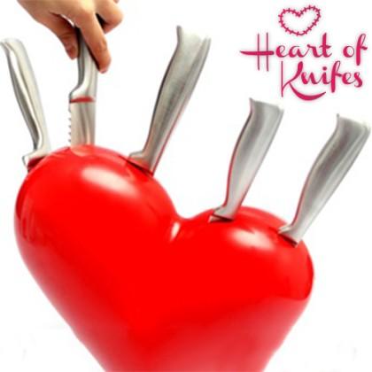 Set Cuțite cu Bloc Cuțite Heart of Knifes