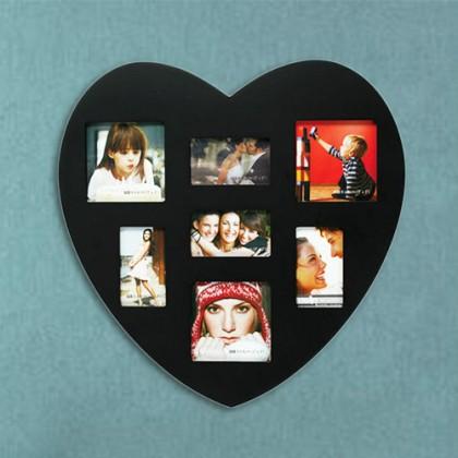 Ramă Lemn In Formă de Inimă 7 Fotografii