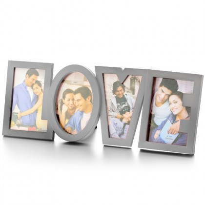 Ramă Foto LOVE Romantică din Oțel Inoxidabil
