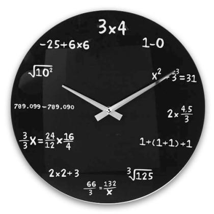 Ceas de perete Matematică