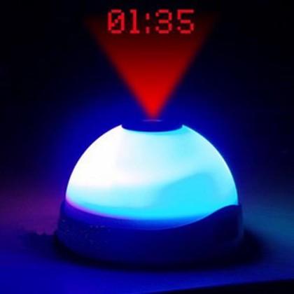 Ceas Deșteptător Cu Proiector Și Lumină LED