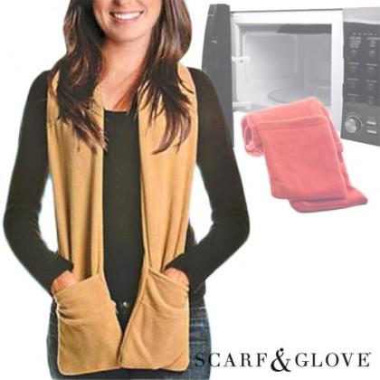 Scarf & Glove Pentru Microunde   Fular Cu Buzunare