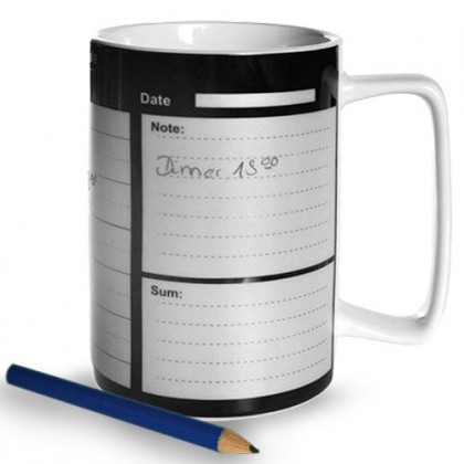 Cană Porțelan Cu Calendar Săptămânal + Creion