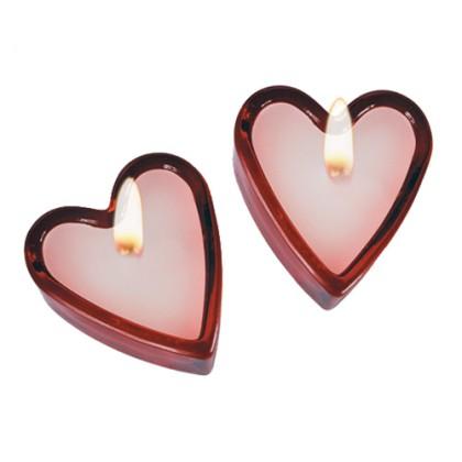 Lumânări Parfumate în Formă de Inimă (set de 2)